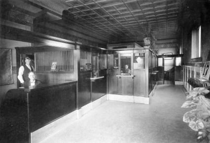Interior View Eskridge State Bank, Eskridge, Kansas