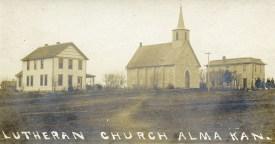 St. John Lutheran Church, Alma, Kansas - c.1907