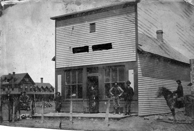 Tintype Photograph of Louis Palenske's Saddle Shop