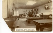 When this interior view of an unidentified Alma, Kansas billiard hall and saloon was taken in the late 1880s there were three saloons located at the intersection of Missouri Street and Main Street (3rd Street today).