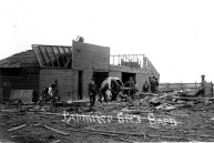 The Parmiter Bros. barn, located in East Eskridge at the intersection of 1st and Belvue Streets, was destroyed by the tornado.