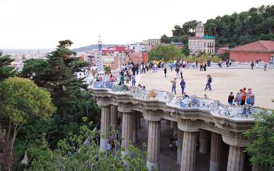 Balcony at Park Guell Barcelona