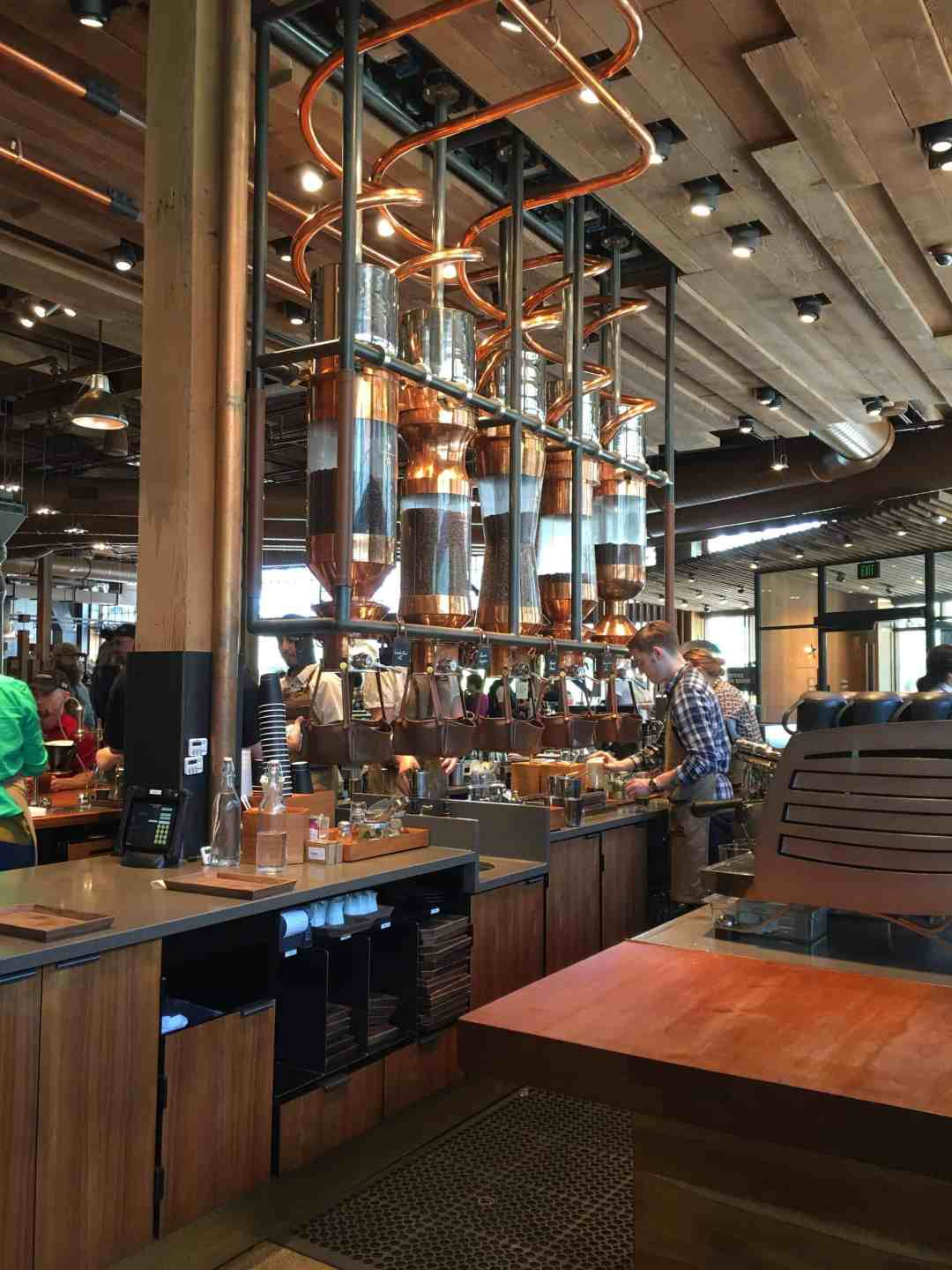 Starbucks Reserve Roastery and Tasting Room in Downtown Seattle