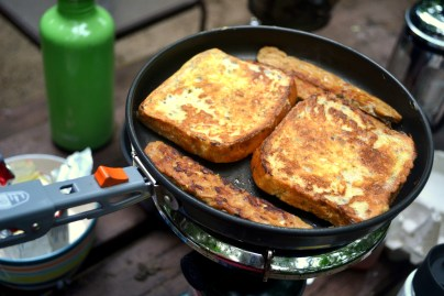 "Gluten-free french toast with tempeh ""bacon"""