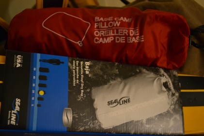 MEC base camp pillow and another dry pack