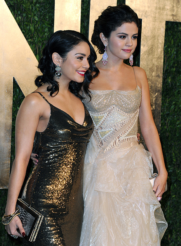 Vanessa Hudgens + Selena Gomez at the 2013 Vanity Fair Oscar Party