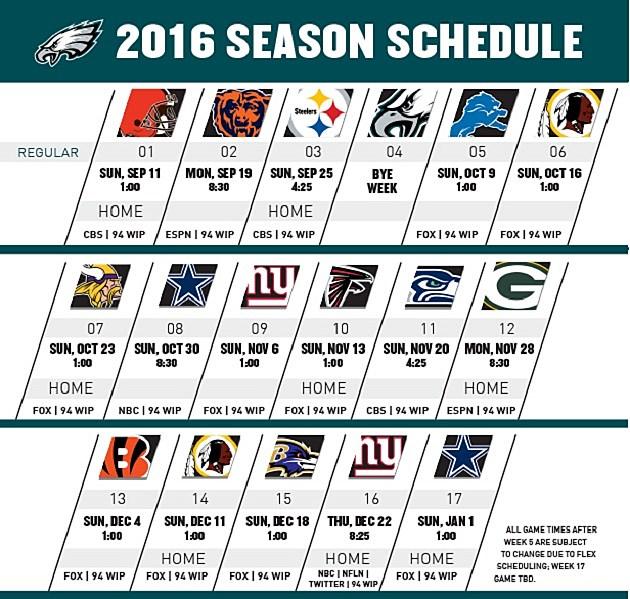 Nfl Release Date 2017 Schedule 2016
