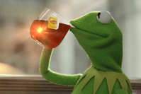Good For A Girl Kermit Sipping Tea Woman