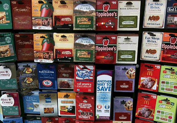 Of The 10 Gift Cards People Want Most For The Holidays
