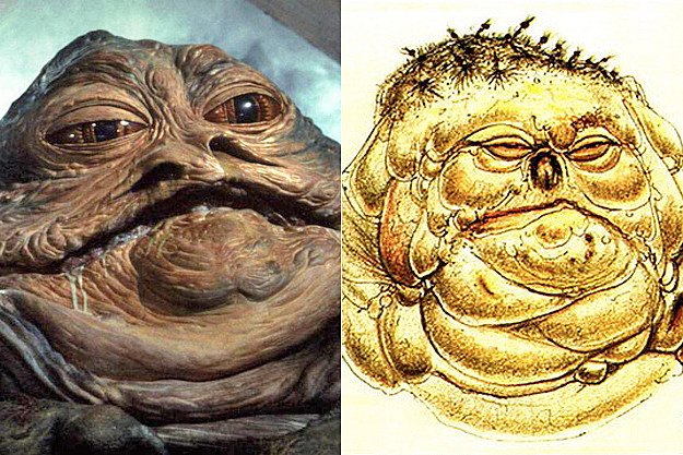 Jabba the Hut early concept art