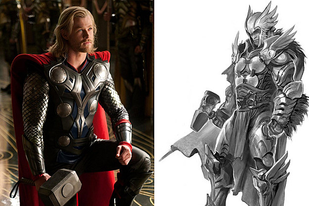 'Thor' early concept art