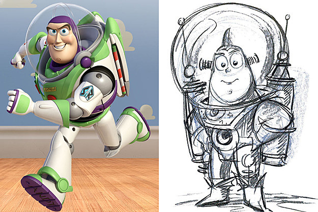 Buzz Lightyear early concept art
