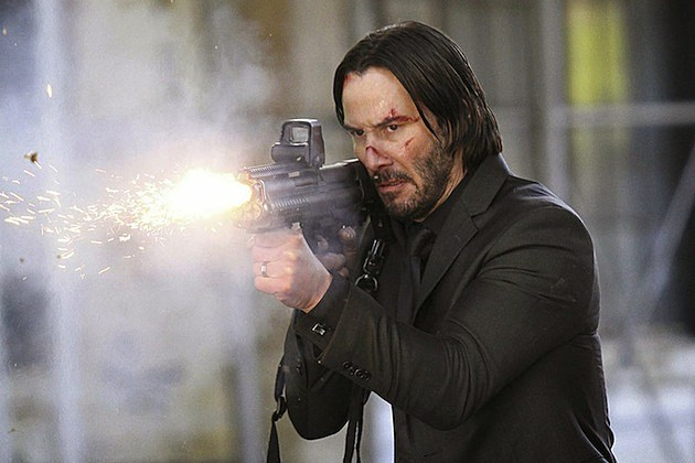 Keanu Reeves shoots the lights out in John Wick