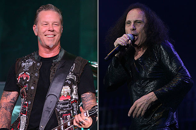 James Hetfield Ronnie James Dio