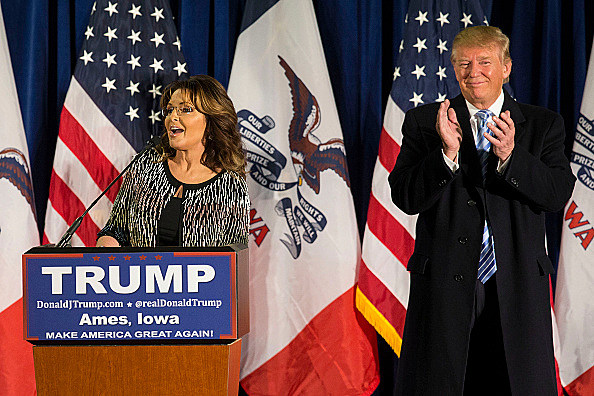 Image result for january 2016 trump sarah palin