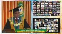 Rektor Universitas Nusa Cendana (Undana) Kupang, Prof. Ir. Fredrik L. Benu, M.Si., Ph.D saat pidato.(wacananews.co.id/isto)