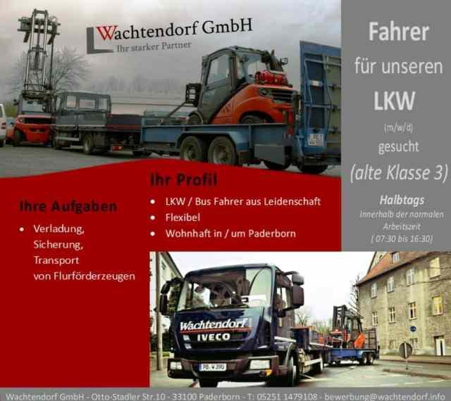 #Traumjob  LKW Fahrer bei der Wachtendorf GmbH
