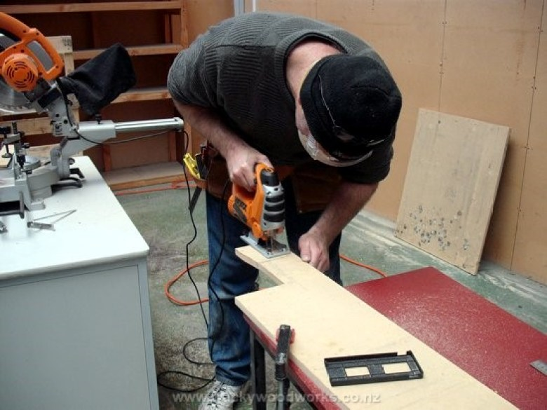 Jig sawing to fit.
