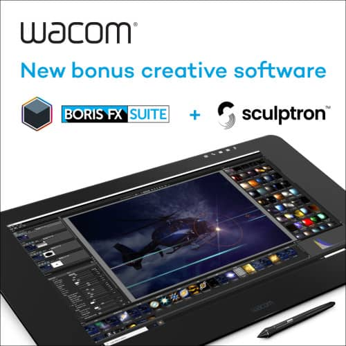Get BorisFX and Sculptron when you register your Wacom