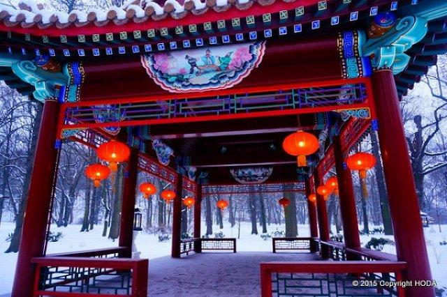 ワジェンキ公園 中国