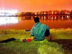 最近の旅人ほだ。(ワルシャワ) ビスワ川