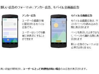 Google Adsenseの最新機能!アンカー広告・モバイル全画面広告を使ってみた!