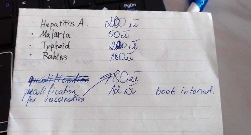 黒い字が僕が書いた病名。青い字はお姉さんが書いてくれました~