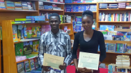 Honourable mentions in the 13 to 17 age category - Antigua Grammar School student Canice James and Irene B. Williams student Zahra Emanuel.