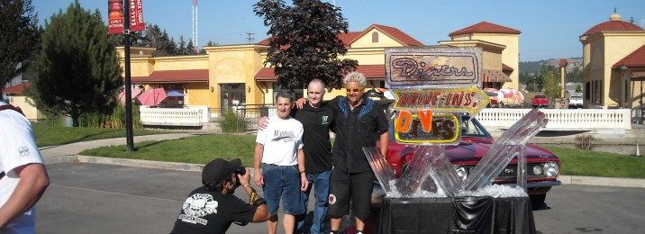 Behind the scene picture from Diners Drive ins and Dives