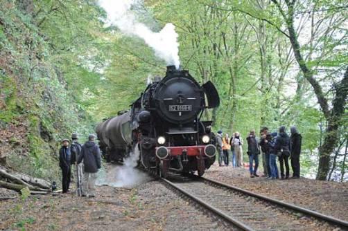 Filmteam von Tom Tykwer an der Hespertalbahn.