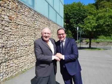 OB Kufen gratuliert Hanslotar Kranz zum Geburtstag