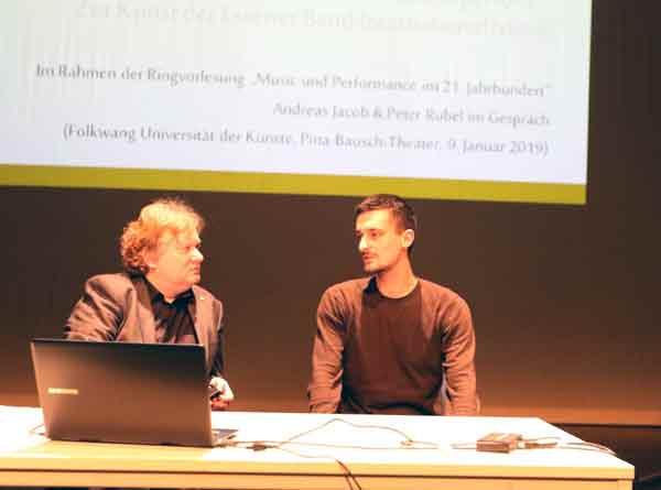 International Music: Folkwang-Rektor Andreas Jacob im Gespräch mit dem ehemaligen Folkwang-Student Peter Rubel