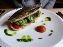 grilled fillet of North Sea mackerel on wild garlic toast
