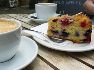 Grumpy Badger's raspberry, blueberry & lime cake