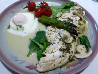 Eastward House haddock poached in Sancerre with French tarragon