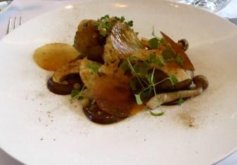 Mushroom, fregola, cauliflower, consomme
