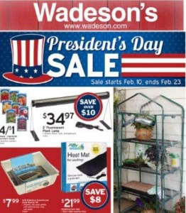 The 2019 Wadeson Presidents Day Sale Runs 2/8/19 – 2/27/19!