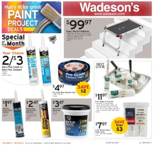 The Wadeson BOGO Paint Sale Runs 4/26/19 – 5/8/19!