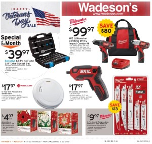 The Wadeson Home Center 2019 Veterans' Day Sale Runs From 11/1/19-11/13/19!