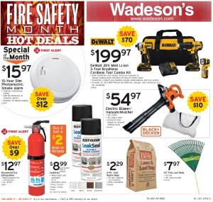 The Fire Safety Month Sale Runs 10/4/19–10/16/19!