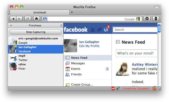 Firesheep lets you log in to Facebook as someone else