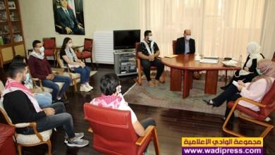 صورة الحريري تابعت مع وفد اتحاد الشباب الديمقراطي الفلسطيني (أشد) قضايا وهموم الشباب والطلبة الفلسطينيين في لبنان