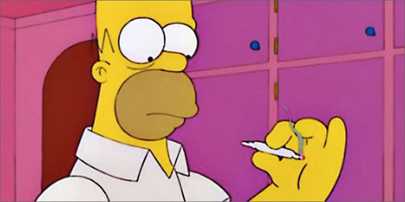 Is that a joint Homer's smoking?
