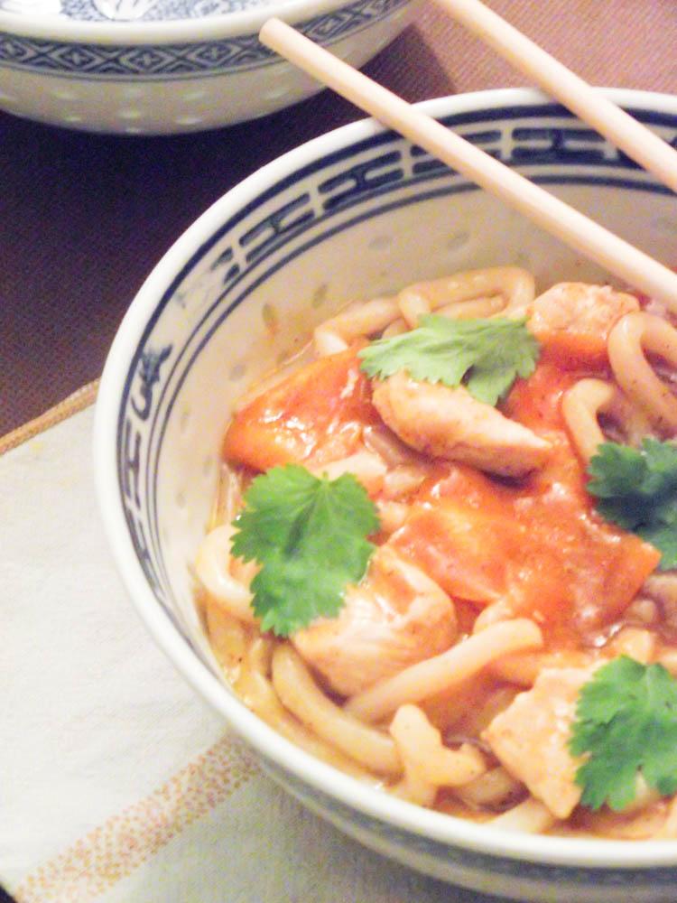 Kare Udon ou Curry de nouilles japonaises & Tanoshi