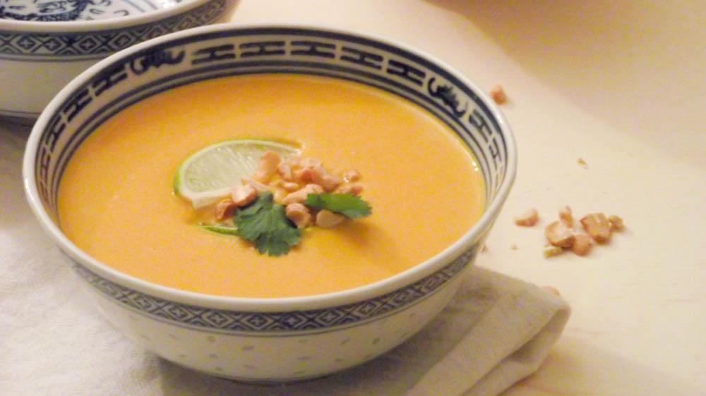 Velouté de patates douces et carottes au curry et lait de coco & Automne
