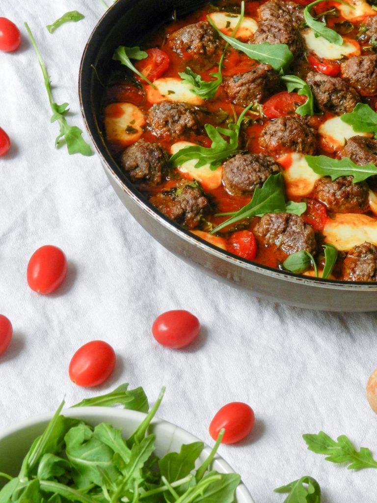 Boulettes de boeuf, mozzarella et roquette - Wadji, Cooking Mama
