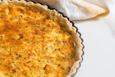 Quiche aux carottes et au chèvre - Wadji,Cooking Mama