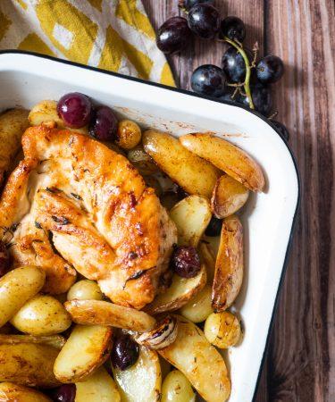 Poulet sauté aux pommes de terre et au raisin - Wadji, Cooking Mama
