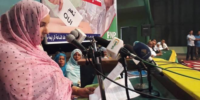 بنت ملاي الزين:نظام ولد عبد العزيز  حقق مكاسب وإنجازات كبيرة لشريحة العمال غير الدائمين
