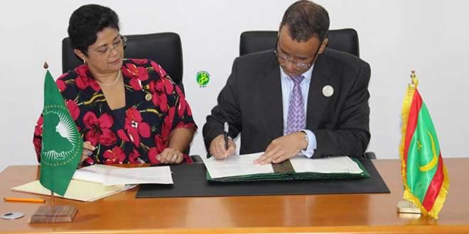 توقيع 11 تفاقية وابروتكولا بين موريتانيا والاتحاد الإفريقي (تفاصيل)